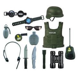 14x Kids Army toys set Swat Hand Grenades - Helmet & Costume