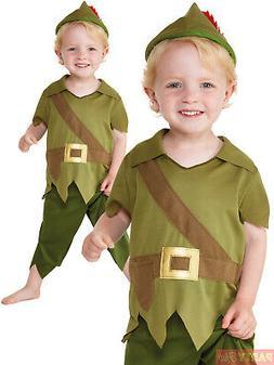 Baby Toddler Robin Hood Costume Boys Medieval Fancy Dress Ki