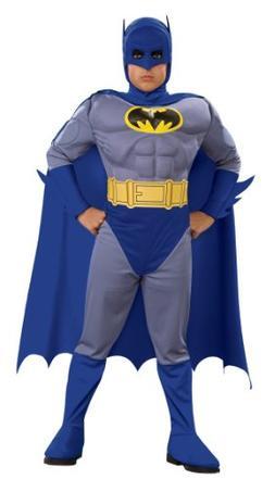 Batman Deluxe Muscle Chest Batman Child's Costume, Large