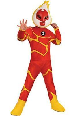 Ben 10 Heatblast Deluxe Boys size S 4/6 Costume Cartoon Netw