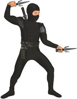 Boys Black Ninja Costume Accessories 8 Piece Kids Samurai Wa