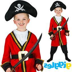 Boys Captain Hook Pirate Kids World Book Day Week Fancy Dres