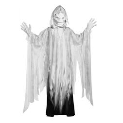 Boys Evil Spirit Ghost Scary Halloween Costume Robe Hood Mas