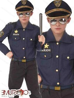 Boys Instant Police Costume Fancy Dress Halloween Cop Kids P