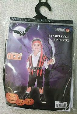 Halloween Accessories Boys Pirate Costume ~ Ages 10-12  New