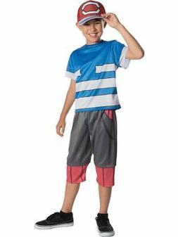 Boys Pokemon Master Trainer Ash Ketchum Costume