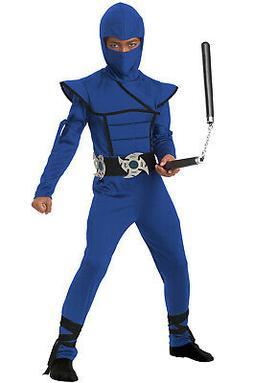 Blue Stealth Ninja Kids Costume