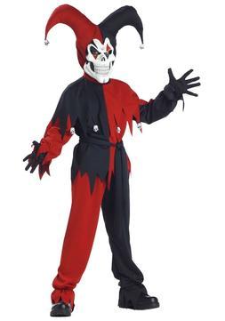 California Costumes-5 Pc-Evil Jester- Boys Costume Large  Ne