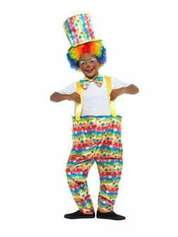Child Deluxe Hoop Clown Costume Halloween Outfit Kids Boys G