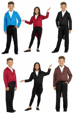 CHILD TAILCOAT SHOWMAN MAGICIAN MAGIC ACT COSTUME JACKET KID