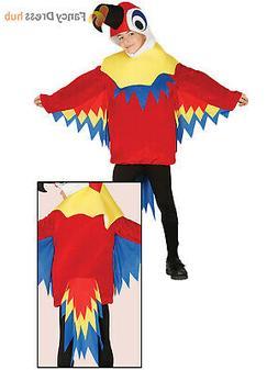 Childs Parrot Costume Boys Girls Animal Bird Fancy Dress Haw