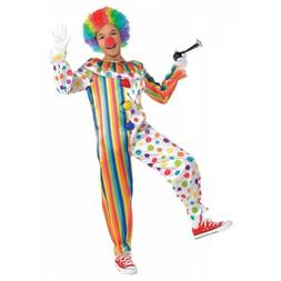 Clown Jumpsuit Costume Halloween Fancy Dress