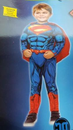 DC Comics Muscle Superman Boys Toddler Costume Jumpsuit &  C