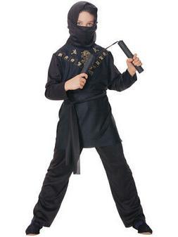 Deluxe Child Boys Sneaky Black Ninja Costume Large 12-14