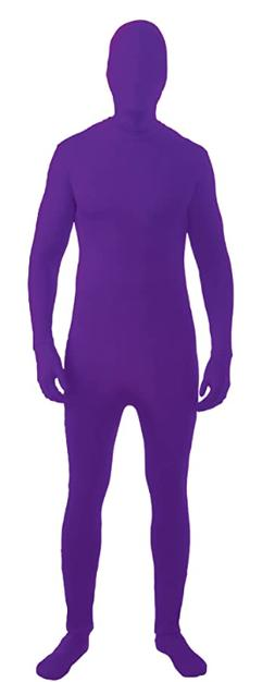 Forum Novelties I'm Invisible Costume Stretch Body Suit, Pur