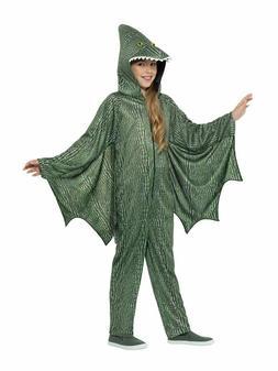 Kids Unisex Dinosaur Costume Flying Pterodactyl Green Jumpsu