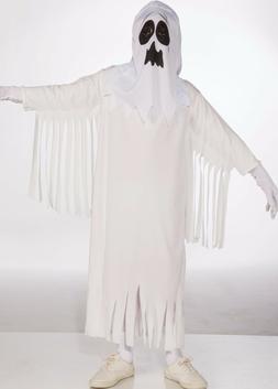 Kids Unisex Ghost Costume White Ghoul Childrens Child Girls
