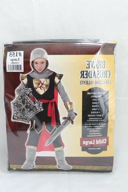 Knight Costume Kids Medieval Warrior Halloween Fancy Dress L
