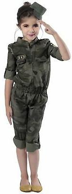 Army Style Costume, Small, Camo