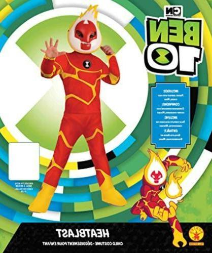 Ben Heatblast Deluxe Boys S 4/6 Costume