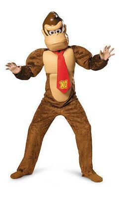 Boys Deluxe Donkey Kong Costume size Large 10-12