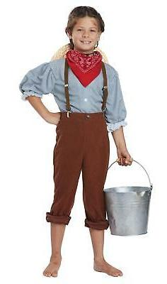 Boys Early Pioneer American Halloween Costume Size Medium 8-