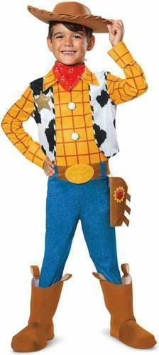 Disney Pixar Woody Toy Story 4 Deluxe Boys' Costume Size: Me
