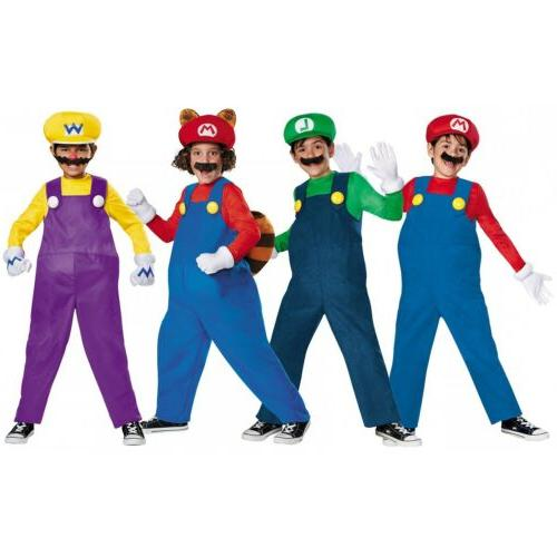 Mario And Luigi Costumes Kids Super Mario Bros
