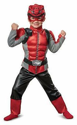 Disguise Red Ranger Beast Morpher Toddler Boys' Muscle Costu