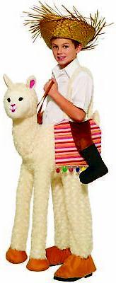 Ride-A Llama Child Costume Funny Kids White Alpaca Halloween