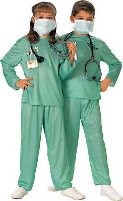 Rubie's E.R. Doctor Child Costume Size Large 12-14