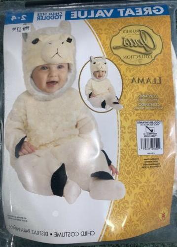 rubies opus llama plush toddler costume jumpsuit