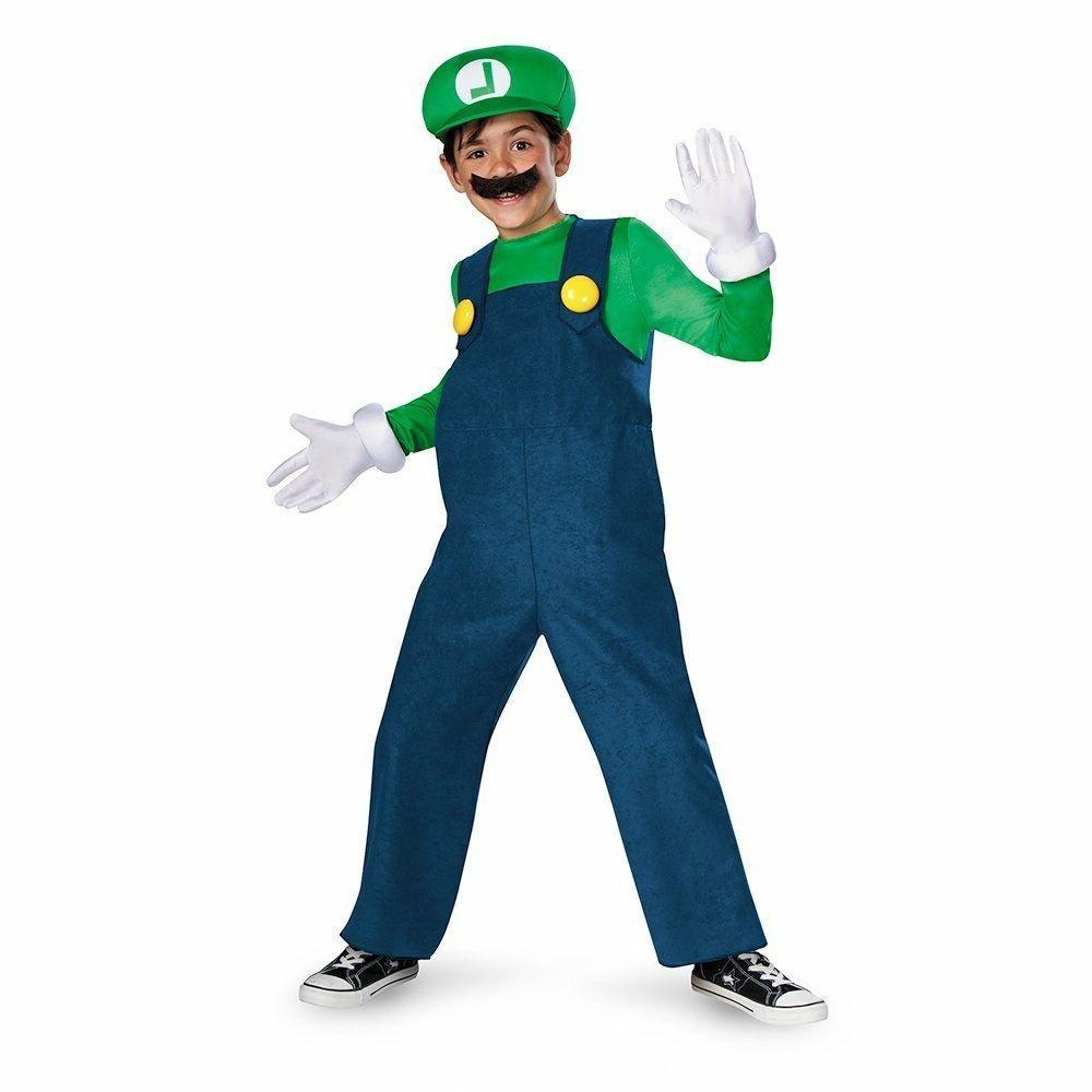 Disguise Super Mario Bros. Luigi Deluxe Child Boys Halloween