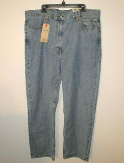 Levi Strauss & Co. Men's 100% Cotton 550 Relaxed Blue Jeans