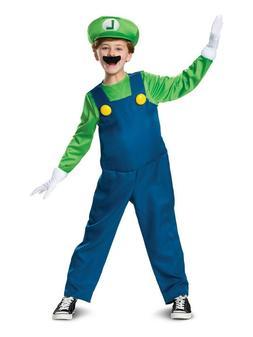 Luigi Deluxe Kids Halloween Costume, Super Mario Bros Includ