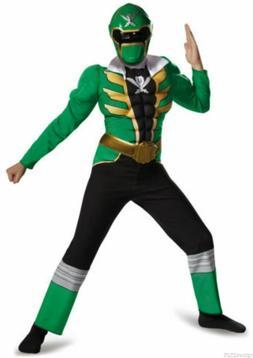 Power Rangers Size 7-8 Medium Super Megaforce Green Muscle C