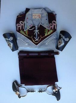 OFFICIAL ROY ROGERS COSTUME & ACCESSORIES MIB 1950's w SPURS