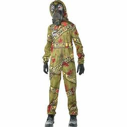 Quarantine Zombie Halloween Costume for Boys, Large, with Ac