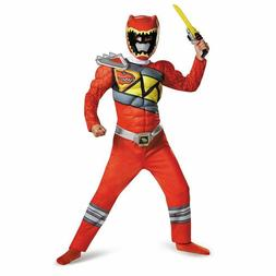 Power Rangers Red Ranger Dino Charge Classic Muscle Costume