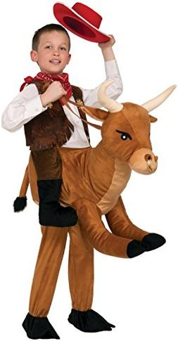 Ride a Bull Brown Animal Child Costume One Size
