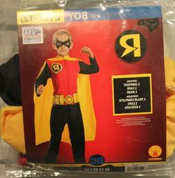ROBIN CHILD COSTUME Boys Large 10-12 Batman Superhero DC Hal