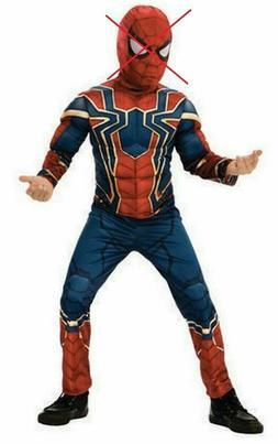 Rubies Deluxe Iron Spiderman Halloween Costume Boys Size Lar