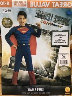 Size M 8/10 DC Justice League Superman Child Costume Muscle