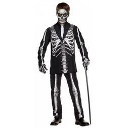 Skeleton Suit Costume Kids Halloween Fancy Dress