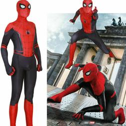 USA Spider-Man Far From Home Cosplay Costume Kids Boys Spide