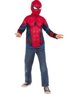 Spiderman Homecoming Boys Spiderman Superhero Costume Top Sh