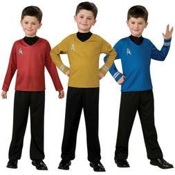 Star Trek Costume Kids Starfleet Uniform Halloween Fancy Dre