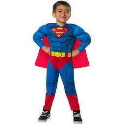 Toddler Boys Superman Halloween Costume Jumpsuit with Cape S