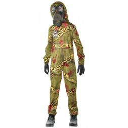 Zombie HAZMAT Costume Kids Scary Halloween Fancy Dress